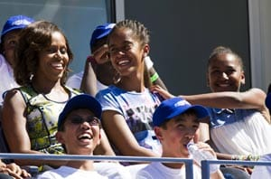 US Open: Michelle Obama struggled at tennis but wants daughters to excel