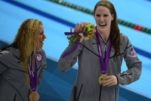 London 2012 Swimming: Franklin seals backstroke double with record