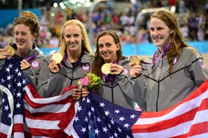 London 2012 Swimming: Franklin's four golds as US women win medley relay