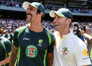 The Ashes: Michael Clarke thanks bowlers, Rogers after toss anxiety