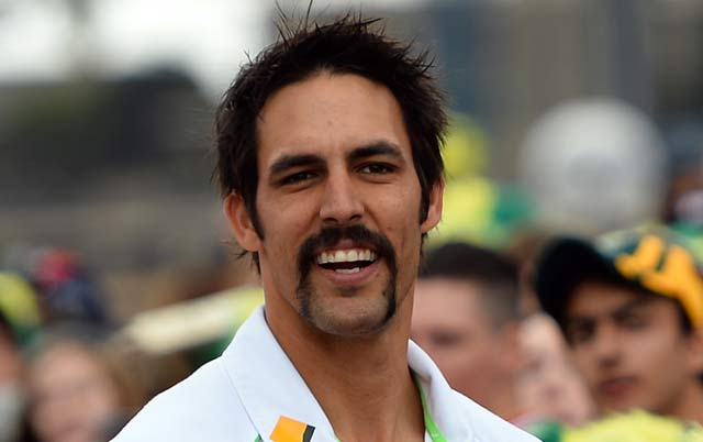 Mitchell Johnson is 'clean' again as wife wields the razor