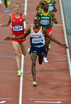 London 2012 Athletics: Farah holds off Rupp, Bekeles for memorable gold