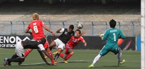 I-League: Shillong Lajong FC edge 10-man Mohammedan Sporting in nine-goal thriller