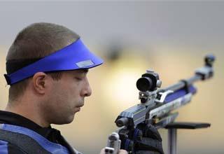 Romania's Moldoveanu wins 10m air rifle gold medal
