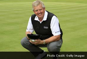 Colin Montgomerie seals first senior title