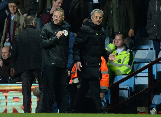 English Premier League: Jose Mourinho fined 8000 pounds for improper conduct during Aston Villa game