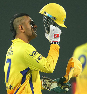 Mahendra Singh Dhoni's 'mohawk' style a hit among fans