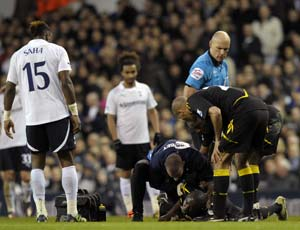Bolton star Fabrice Muamba 'critical' after collapse