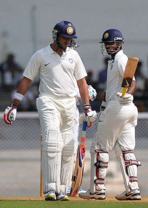 Tiwary, Yuvraj, Mukund power India A to 369/9 on an exciting first day; England get Finn scare