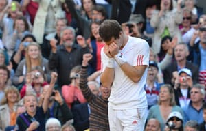 Andy Murray forgets tearful Wimbledon heartbreak