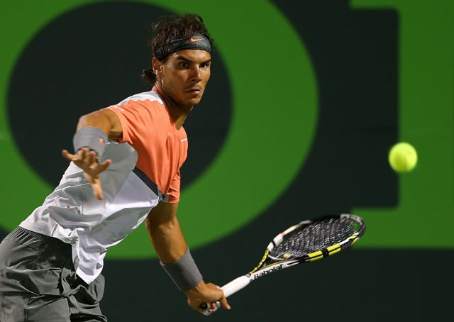 Sony Open: Rafael Nadal brushes off bomb scare to reach quarters