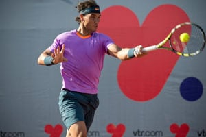 Rafael Nadal advances to singles semis in comeback event