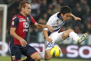 Japan's Nagatomo gives Inter victory over Genoa