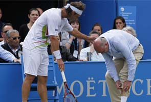 Cilic takes Queen's title as Nalbandian disqualified
