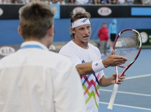 Nalbandian fined for throwing water at official