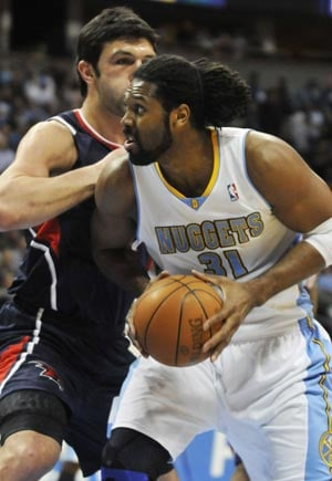 Nene's 22 points lifts Nuggets past Hawks in overtime