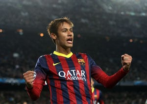 Neymar returns to practice with Barcelona