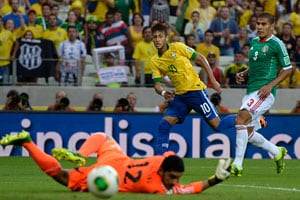 Neymar inspires Brazil to 2-0 win over Mexico, spot in Confederations Cup semis