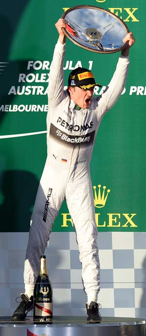 Australian GP: Nico Rosberg opens new F1 era with dominant win