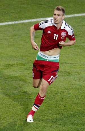 UEFA Euro 2012: Bendtner risks UEFA action for ambush marketing
