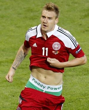 Euro 2012: Bendtner gets one match ban for underwear stunt