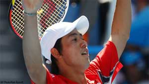 Nishikori reaches 2nd round in Argentina