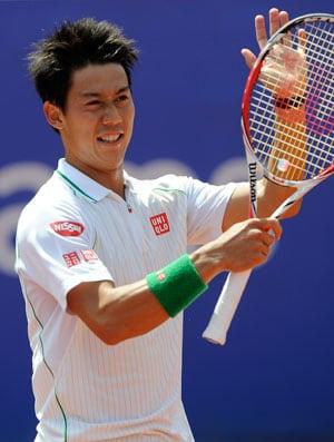Kei Nishikori triumphs over Santiago Giraldo to win Barcelona Open