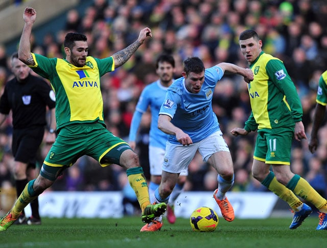 Manchester City's title push dented by Norwich City stalemate