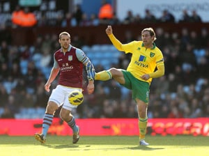 Turner earns draw for Norwich at Aston Villa
