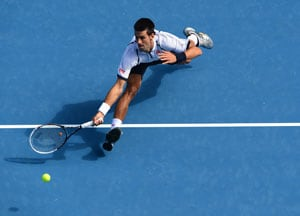 Novak Djokovic reveals the secret to his slides - skiiing