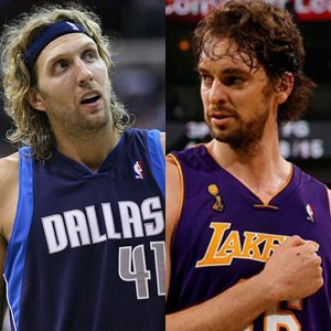 Gasol vs Nowitzki in European Championship