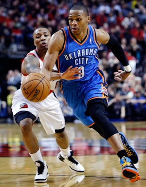 Oklahoma City Thunder beat Portland Trail Blazers 87-83