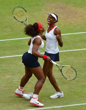 London 2012 Tennis: Williams sisters win historic four gold medals