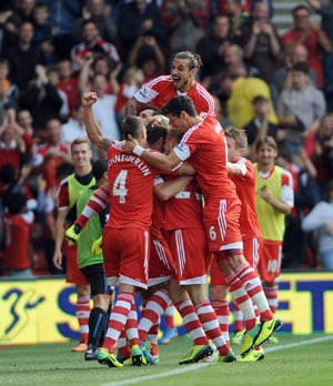 Pablo Osvaldo strikes as Southampton down Crystal Palace