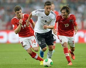 "Mesut Ozil delighted as Germany ""boss"" Austria"