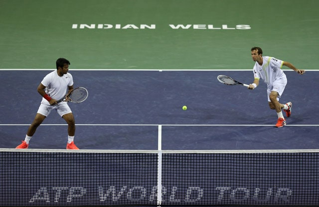 Leander Paes-Radek Stepanek crash out of Indian Wells