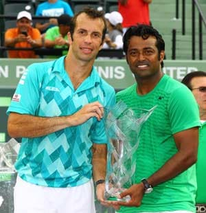 Paes lifts 50th doubles title, partners Stepanek to a win in Miami
