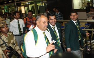 Pakistan team arrives in Bangalore for T20 matches
