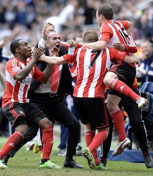 Paolo Di Canio goes wild as Sunderland thrash Newcastle United