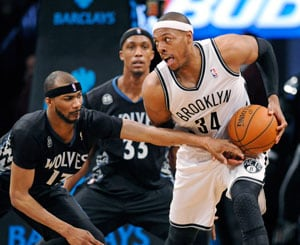 NBA: Paul Pierce, Brooklyn Nets win 13th straight at home, top Minnesota Timberwolves