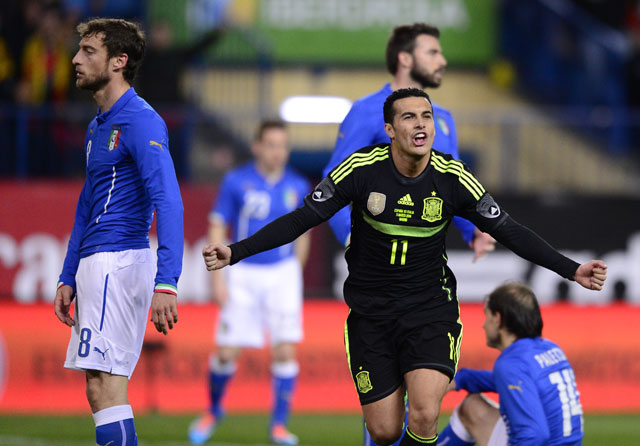Pedro Rodriguez's strike hands Spain 1-0 win over Italy