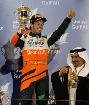 Sergio Perez gives Sahara Force India second podium finish in Formula One
