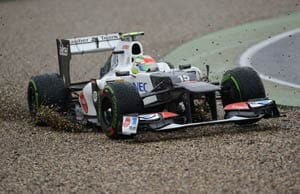 German F1: Sergio Perez handed a grid penalty