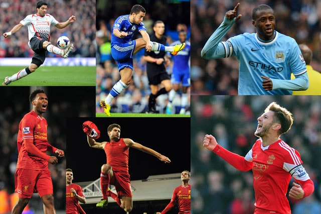 Liverpool trio Luis Suarez, Steven Gerrard and Daniel Sturridge on shortlist for PFA player of the year