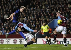 Jones scores as Villa go down to Manchester United
