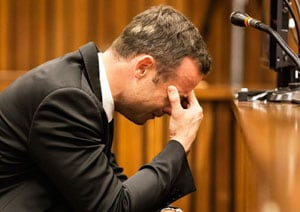 Sobbing Oscar Pistorius describes shooting girlfriend Reeva Steenkamp to court