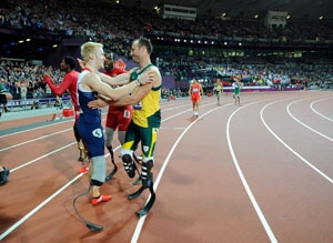 Oscar Pistorius loses 'Battle of the Blade Runners'