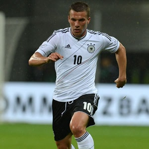 Lukas Podolski is featuring in his third World Cup for Germany