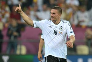 Euro 2012: Podolski to celebrate 100th cap against Denmark