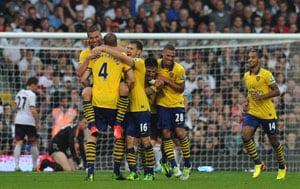 Lukas Podolski, Olivier Giroud score as Arsenal FC renaissance continues at Fulham
